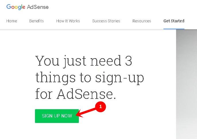 Adsense Signup