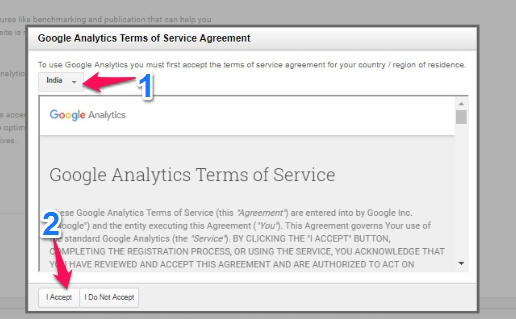 Google analytic terms conditions