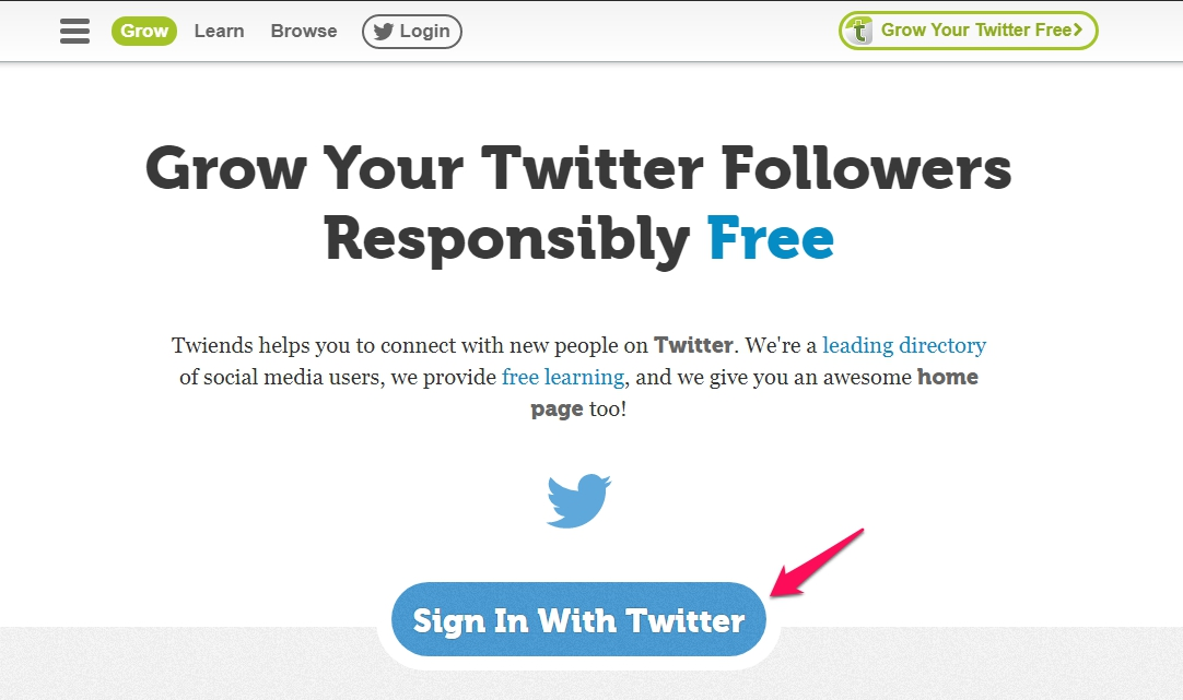 Sign-in with Twitter