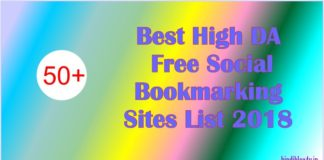 Top 50+ Best High Domain Authority Free Social Bookmarking Sites List 2018