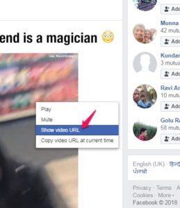 Show video url Facebook