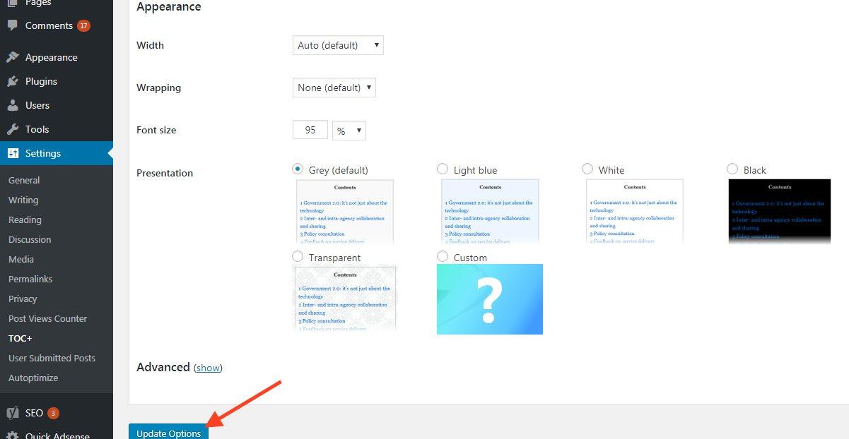 वर्डप्रेस में टेबल ऑफ़ कंटेंट्स कैसे लगाये Guide