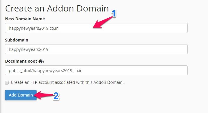 Addon Domain Kare